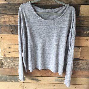 Heathered Grey Monrow Long Sleeve